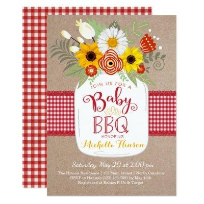 Baby BBQ Baby Shower Invitations, BabyQ Invite