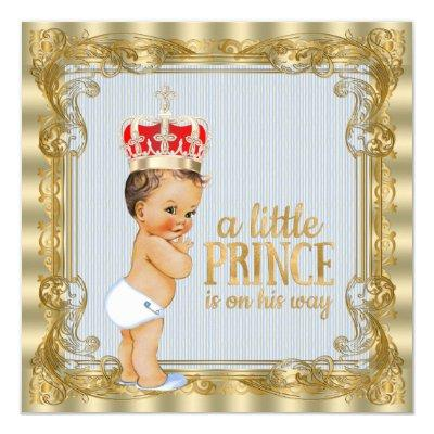 Baby Blue Gold Royal Prince