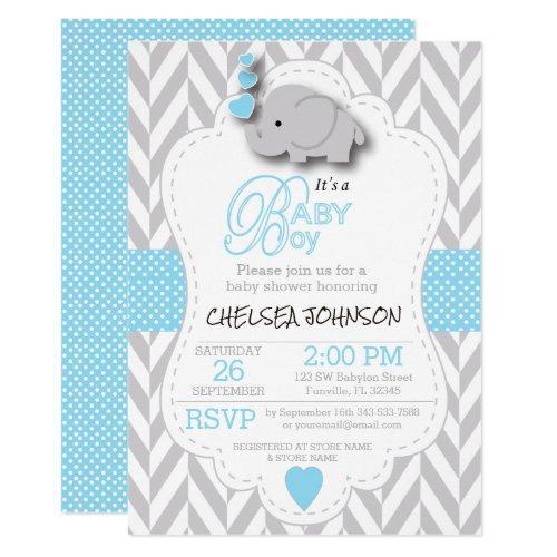 Baby Blue, White Gray Elephant