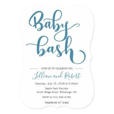 Baby Boy Bash Shower invitation
