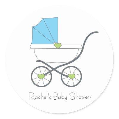 Baby Boy Favor Stickers