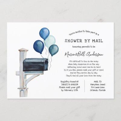Baby Boy Long Distance Shower by Mail Invitation