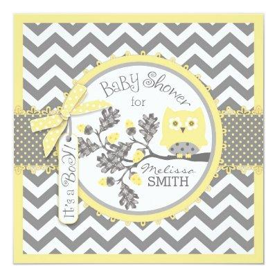 Baby Boy Owl Chevron Print