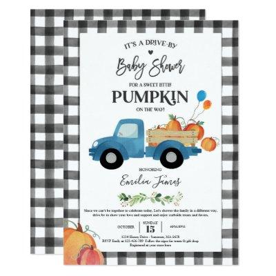 Baby Boy Pumpkin Truck Pumpkin Fall Baby Shower Invitation