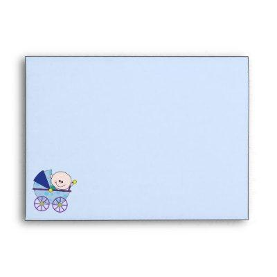 Baby Boy Shower Invitation Envelope A7 Size