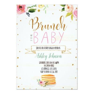 Baby brunch party invitation