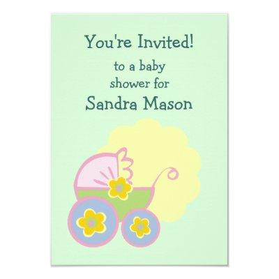 Baby Buggy Shower Invitation