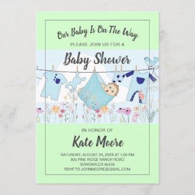 Baby Bundle Baby Shower Invitation