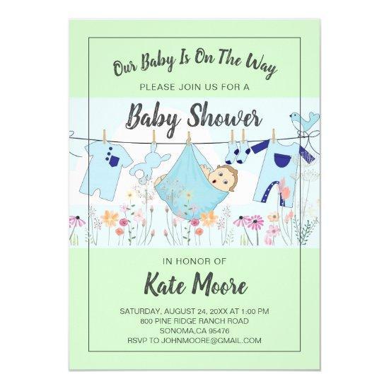 Baby Bundle Baby Shower Invitation