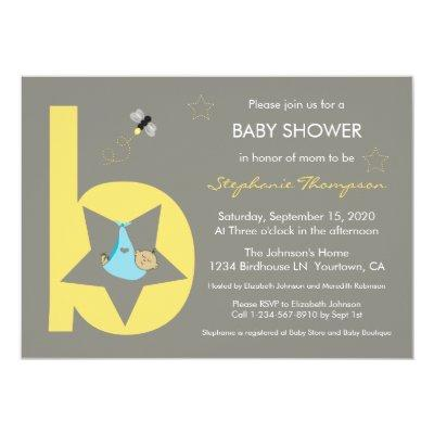 Baby Bundle in the Stars Invitations