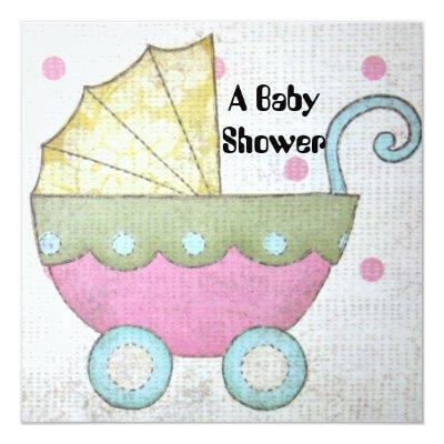 Baby Carriage Invitation