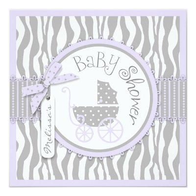 Baby Carriage, Zebra Print & Lavender