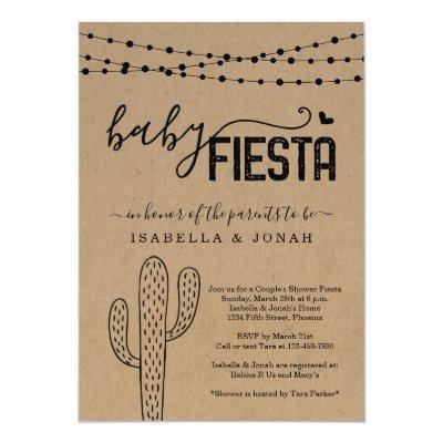 Baby Fiesta Couple's Gender Neutral Baby Shower Invitation