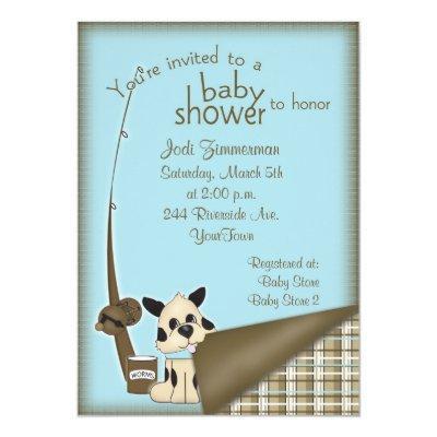 Baby Fisherman Shower Invitations