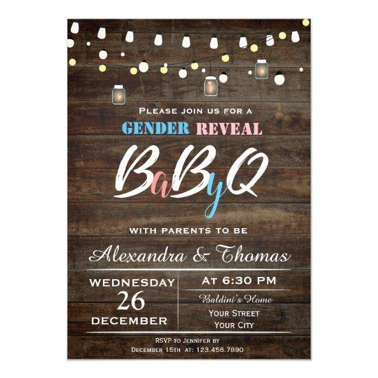 Baby Gender Reveal Invitations
