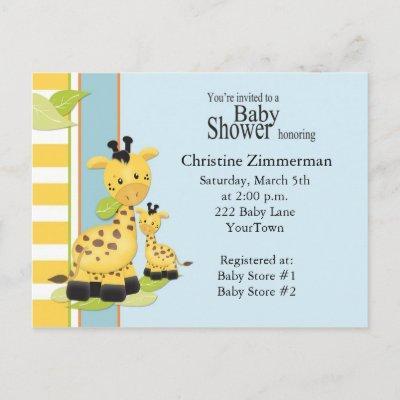 Baby Giraffe  PostInvitations