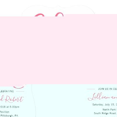 Baby Girl Bash Shower invitation