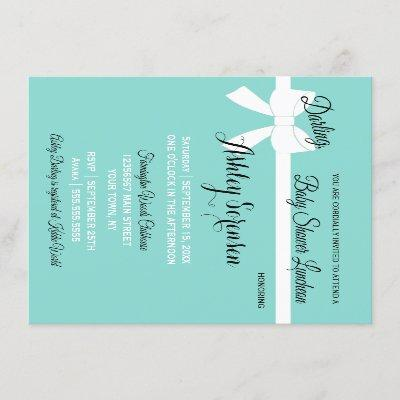 Baby & Guests Sprinkle Shower Tiara Party Invitation
