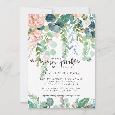 Baby in Bloom   Floral Baby Shower Invitation