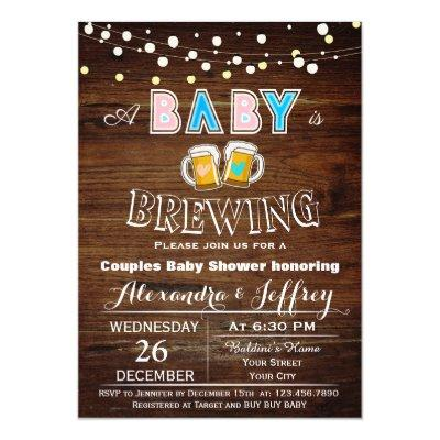 Baby Is Brewing