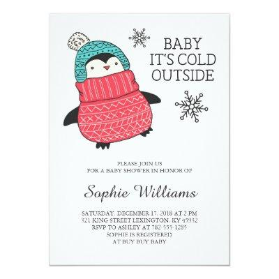 Baby It's Cold Outisde Winter Invitations