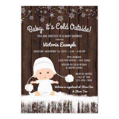 Baby its Cold Outside Invitations