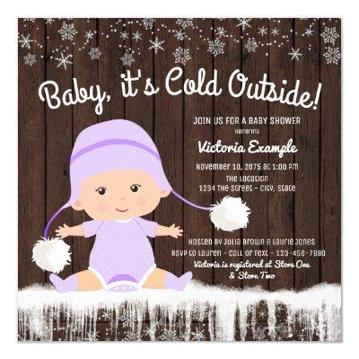 Baby its Cold Outside Baby Shower Invitations