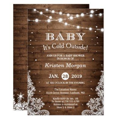 Baby Its Cold Outside Rustic Winter
