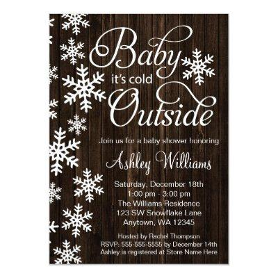 Baby It's Cold Outside Rustic Wood