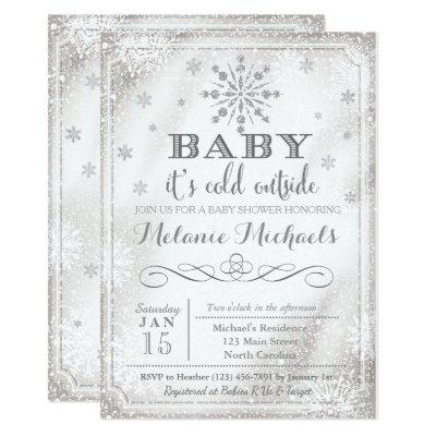 Baby It's Cold Outside Snow Baby Shower Invite