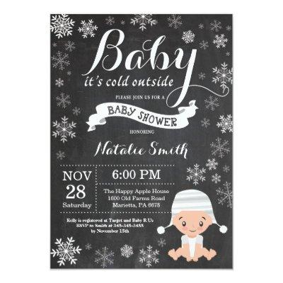 Baby Its Cold Outside Winter Baby Shower Invitations
