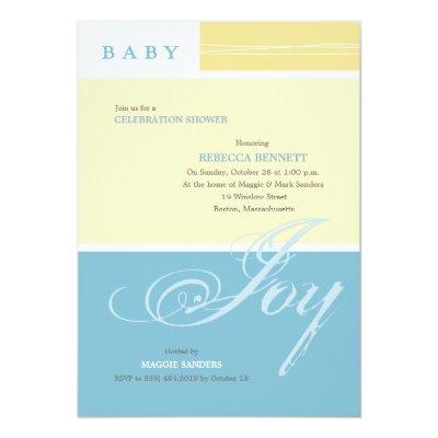 Baby Joy Boy Custom Baby Shower Invitations
