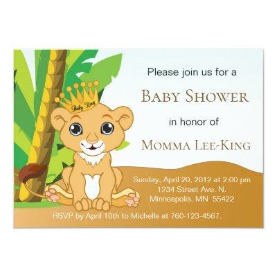 King Baby Shower Invitations Baby Shower Invitations