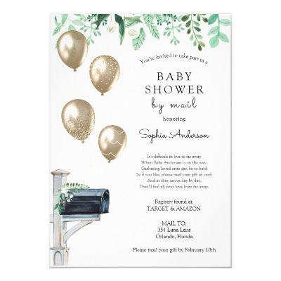 Baby Long Distance Shower by Mail Invitation