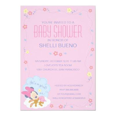 Baby Minnie Mouse Baby Shower Invitation