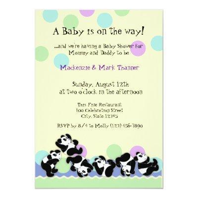 Baby Panda Mania Invitation