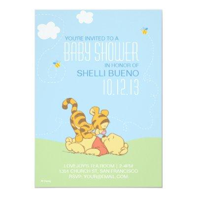Baby Pooh and Tigger Baby Shower Invitations