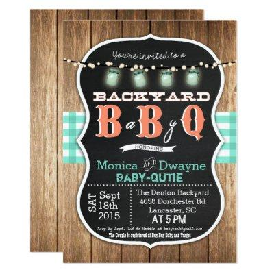 Baby Q BabyQ Couples Shower BBQ Invitations