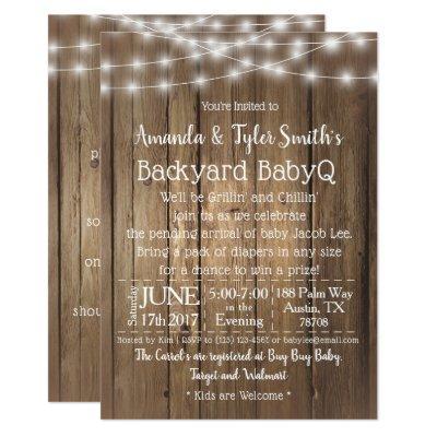 Baby-Q BBQ Wood Rustic Gender Neutral