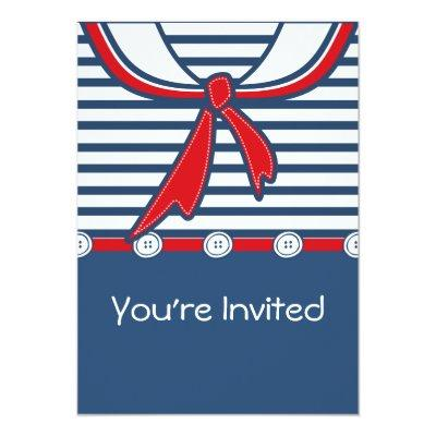 Baby Sailor Suit B Invitation