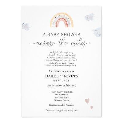 Baby Shower Across the Miles Invitation