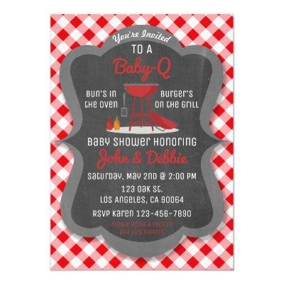 Baby Shower Barbecue Invitations - Baby-Q Party
