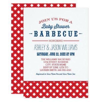 Baby Shower BBQ Invitations | Red White & Blue