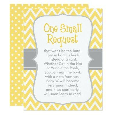 Baby Shower Book Request | Yellow and Gray Invitations