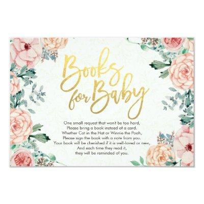 Baby Shower Books for Baby / Bring a book Request Invitations