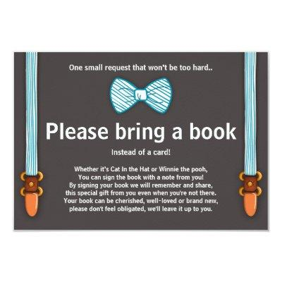 Baby Shower Bring a book Invitations Little Man