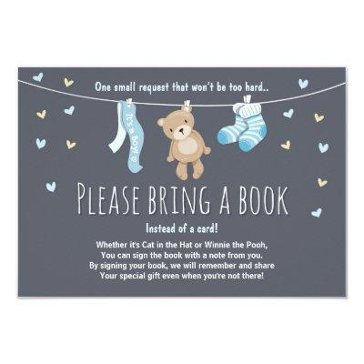 Baby Shower Bring a Book Invitations Teddy Bear
