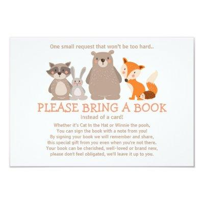 Baby Shower Bring a book Invitations Woodland