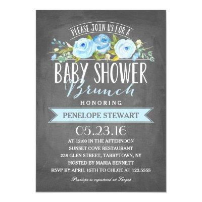 Baby Shower Brunch Blue