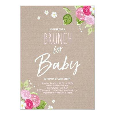 rustic baby brunch shower baby shower invitations baby shower